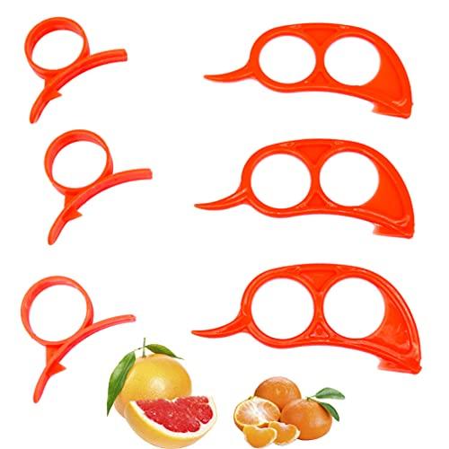 6 Pieces of Orange Citrus Peeler. Peeling Machine for Oranges, Lemons and...
