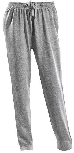 PHINOMEN Bequeme graue Jogginghose Größe M - Unisex Classic Model mit Seitentaschen und Bündchen - Freizeithose für jeden Tag auch für Herren
