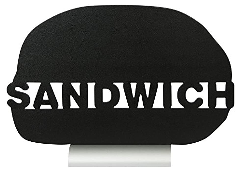 Securit Silhouette Sandwich Chalk Board, Melamine Resin, Black