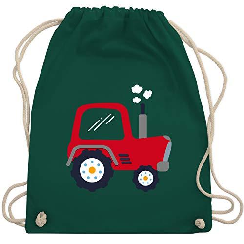 Shirtracer Fahrzeuge Kind - Kinder Traktor - Unisize - Dunkelgrün - beutel traktor - WM110 - Turnbeutel und Stoffbeutel aus Baumwolle