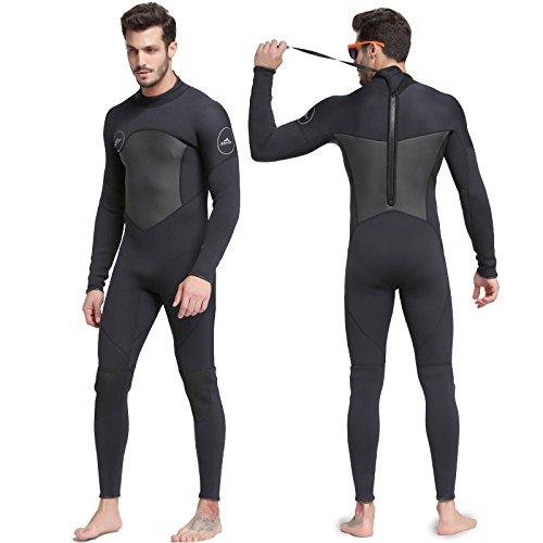 Sbart Muta Uomo intera Lunghezza 3MM Estate Inverno Muta Adulto Neoprene Surf Immersioni Nuoto Muta Nero 3XL