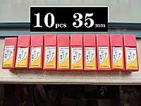 SPRINGHUA 15〜100ミリメートルフォスナードリル炭素鋼ボーリングドリルビット木工セルフセンタリングホールソー超硬ウッドカッターツールセット (Color : 10pcs 35mm)