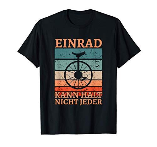 Retro Einrad Zirkus Unicycle Einradfahrer T-Shirt
