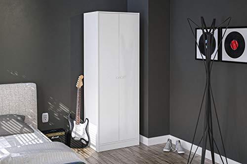 Polifurniture Denmark Wardrobe Armoire, White