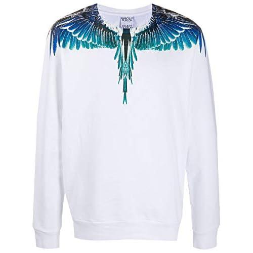 MARCELO BURLON Luxury Fashion Uomo CMBA009E20FLE0010143 Bianco Cotone Felpa   Autunno-Inverno 20