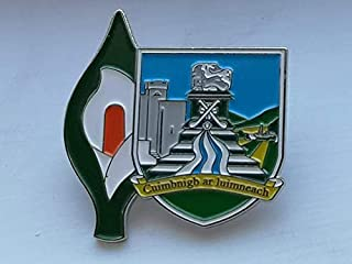 Limerick Easter Lily Enamel Pin Badge - Irish Republican Rebel 1916