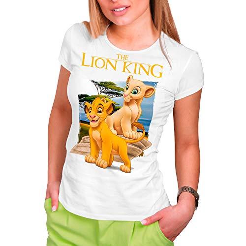 Camiseta Cine Mujer El Rey León, Simba...