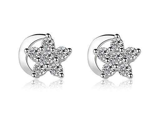 wakerda Damen Ohrringe, Ohrstecker für Frauen und Mädchen Eleganter Einkaufstrolley Star Moon Ohrring Schmuck Ohrring für Party dating Größe 0,8* 0,7cm