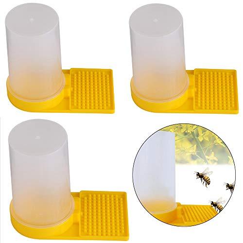 Hpamba Bienenstock Imkerei Wasser Honig Bienenstock Eingang Imker Wasser Bienenstock Bienen Wasser Feeder Bienenstock-Wasser-Zufuhr Futter Automat Bienen Wasserspender Kunststoff Bienen Werkzeug 3PCS