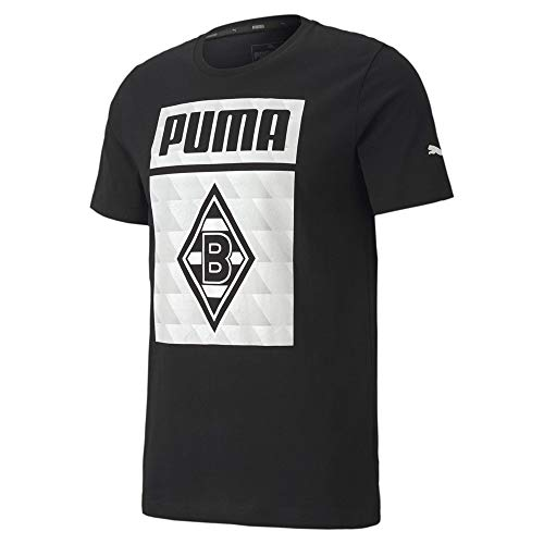 PUMA Herren BMG ftblCORE Graphic Tee T-Shirt, Black White, XL