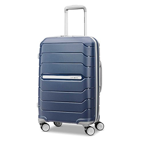 Samsonite Freeform Hardside Expandable with Double Spinner Wheels, Navy, Carry-On 21-Inch