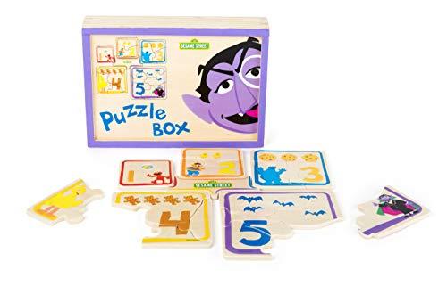 Small Foot- Sesame Street Bois, certifié 100% FSC, pour Les Enfants à partir de 3 Ans. Pièces de Puzzle rangées dans Une boîte à emmener Partout en Voyage. Jouets, 10967, Multicolore