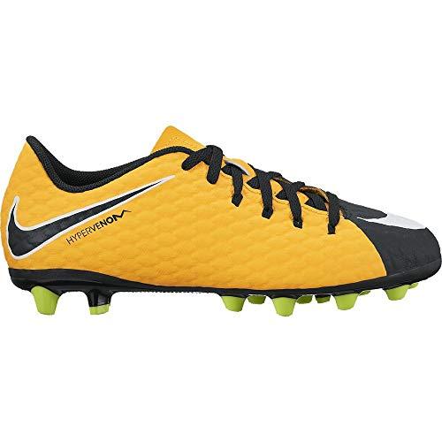 NIKE JR Hypervenom Phelon 3 AGPRO - Zapatillas de fútbol, Unisex Infantil, Naranja - (Laser Orange/White-Black-Volt)