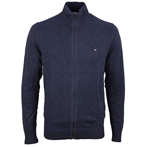 Tommy Hilfiger MW0MW07860-031 Pima Cotton-Cashmere Full-Zip Cardigan Marineblau, Blau XX-Large
