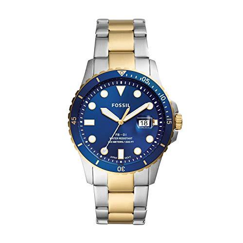 FOSSIL Reloj Analógico para de los Hombres de Cuarzo con Correa en Acero Inoxidable FS5742