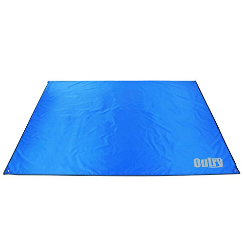 Outry Waterproof Multi-Purpose Tarp, Mutifunctional Tent Footprint for Camping, Hiking - Tent Stakes Included