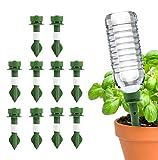 Vibury Dispositivos de riego automático de Plantas, 10 Picos Spide Waterer de Plantas Plantas de Vacaciones Macetas de riego Sistema de estacas de riego por Goteo de Flores