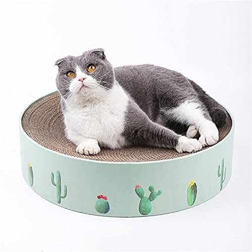 Aiglen Tablero Corrugado para Gatos Rascadores de Garras para Gatos Raspadores de Muebles Artículos para Animales Gatos Juguetes Rascador de uñas Cama Gatitos Cactus (Color : A, Size : 32cm)