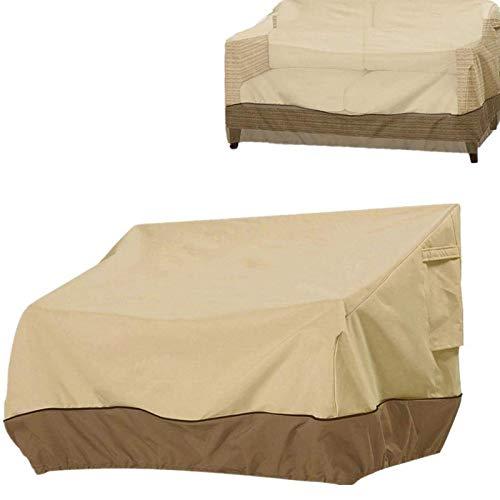 LICHENGTAI Garten Sofabezug mit Kordelzug Wasserdicht Staubdicht UV-Schutzhülle für Loungebank Love Seat, Abdeckung Sessel für Gartenstuhl 2-Sitzer / 3-Sitzer