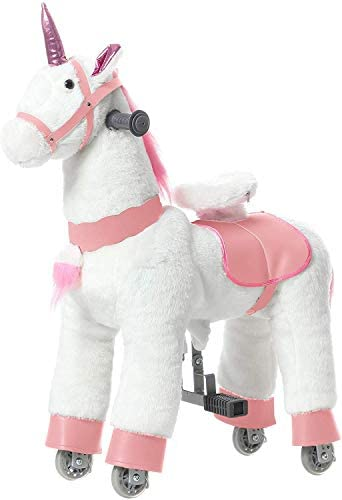 JoJoPooNy Mechanical Walking Horse Ride on Horse Toy with Wheels Giddy Up Moving Horse Action product image