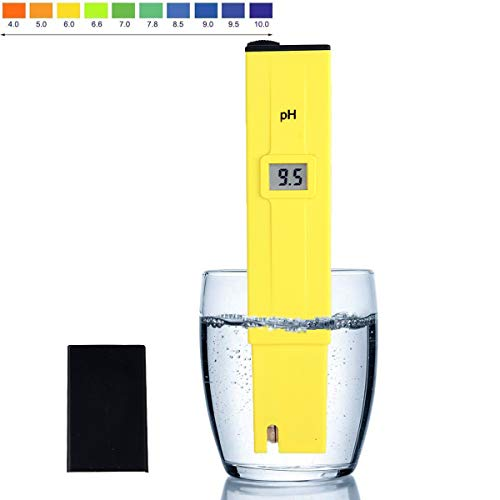 Digital PH Meter, Water Quality PH Tester Pocket Size Water Quality Tester with ATC 0-14 pH Measurement Range for Household Drinking Water, Aquarium, Swimming Pools, Hydroponics
