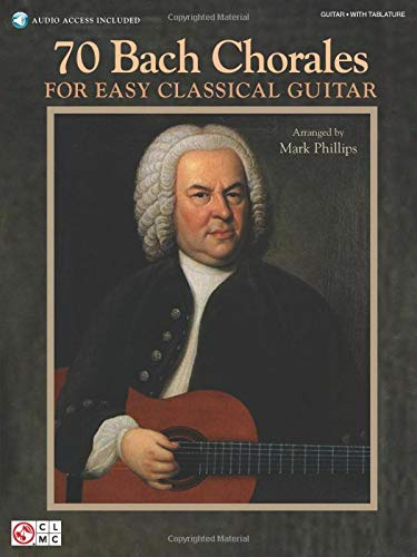 70 Bach Chorales -For Easy Classical Guitar-: Noten, CD für Gitarre (Book & CD)