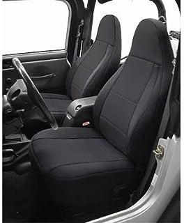 Coverking Custom Fit Seat Cover for Jeep Wrangler YJ 2-Door - (Neoprene, Solid Black)