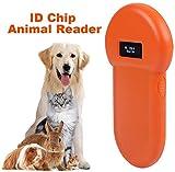 Wandisy Lettore di ID Animale, Lettore di identificazione LCD ISO 134.2Khz di Chip ID Lettore di Animali RFID Cane Microchip Portatile USB Ricaricabile