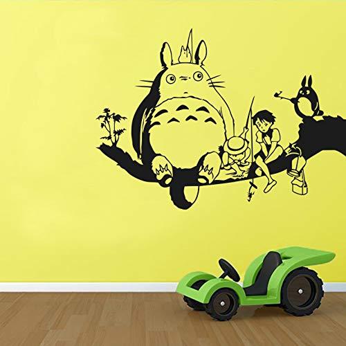 WERWN Anime mi Vecino Totoro Pegatinas de Pared para niños Dibujos Animados niñas niños Dormitorio decoración del hogar jardín de Infantes Aula Lindo Mural Vinilo Pegatinas de Pared
