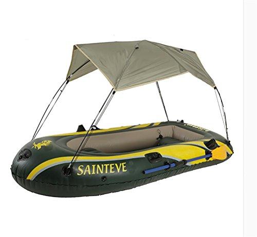 POTA Kajak Fischerboot Schlauchboot Yacht mit Sonnenschirmen