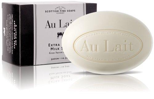 The Scottish Fine Soaps Company Au Lait Triple-Milled Bath Soap (Large Milk Bath Bar 300g – 10.5oz)