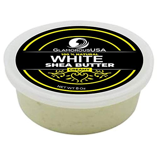 GlamorousUSA | African Shea Butter Premium 100% Natural Creamy White 8 oz Jar