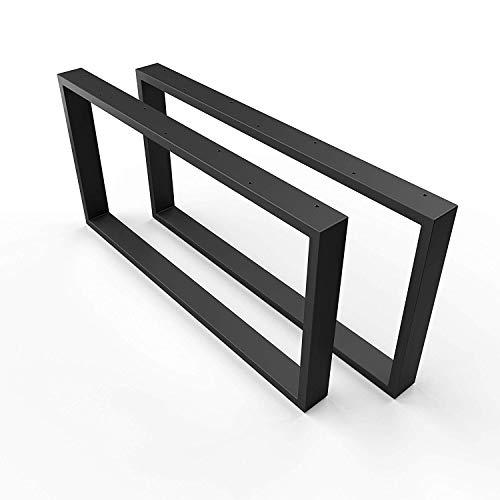 sossai® Design Couchtisch Untergestell | Farbe: Schwarz | Stahl Tischgestell CKK1 - pulverbeschichtet | 2 Stück (Paar) | Breite 80 cm x Höhe 40 cm