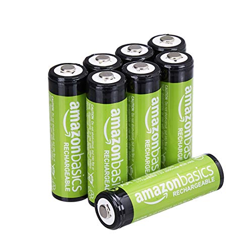 AmazonBasics AA Rechargeable Batteries, Pre-charged - Pack of 8 (Appearance may vary)