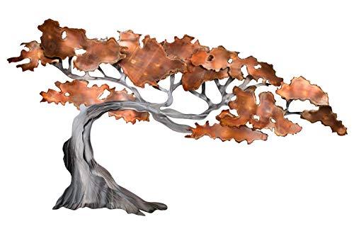 KunstLoft® Scultura da Parete in Metallo 'Rejuvenated' 100x59x6cm | Decorazione da Parete XXL Design Fatto a Mano | Marrone Argento | Quadro in Metallo Lussuoso plastico murale