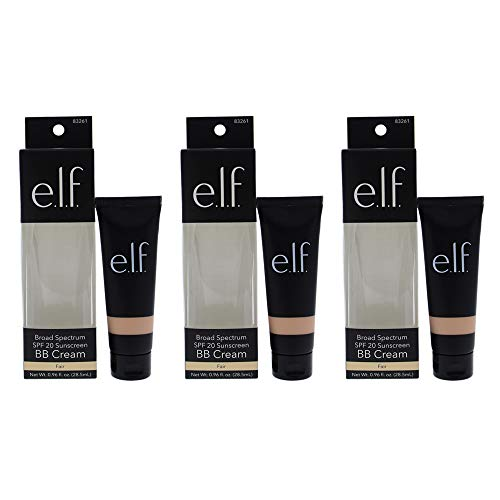 BB Cream SPF 20 - Fair by e.l.f. for Women - 0.96 oz Foundation - (Pack of 3)