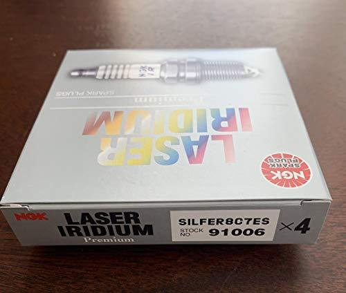 NGK 91006 Laser Iridium Spark Plug SILFER8C7ES - Pack of 4