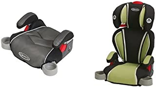 Graco Backless TurboBooster Car Seat, Galaxy and Highback Turbobooster Car Seat, Go Green