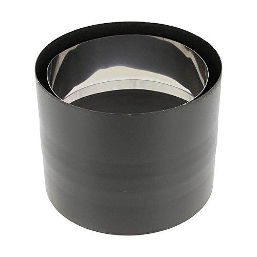 Coude 45/° Sanpli rigide /émail noir mat Diam/ètre 125mm 342444