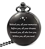 College Graduation Gifts for Him 2021, Graduation Party Supplies Decorations, Engraved Pocket Watch...