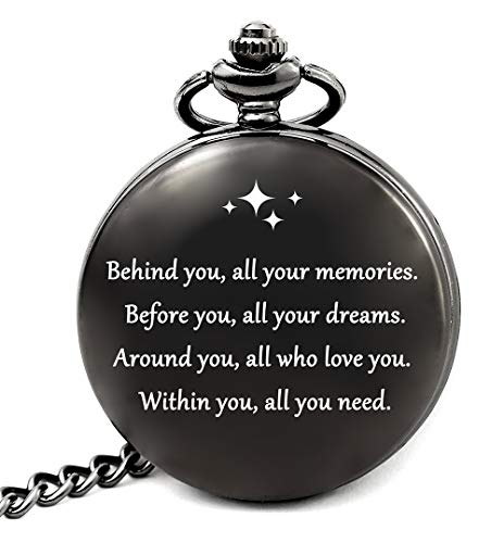 Graduation Gifts for Him College or High School, Graduation Party Supplies, Engraved Pocket Watch (All Your Dreams)