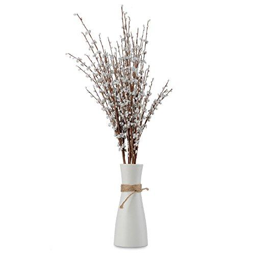 Happyshop - 10 unidades de flores artificiales de jazmín de 59,6 cm de largo de flores artificiales...