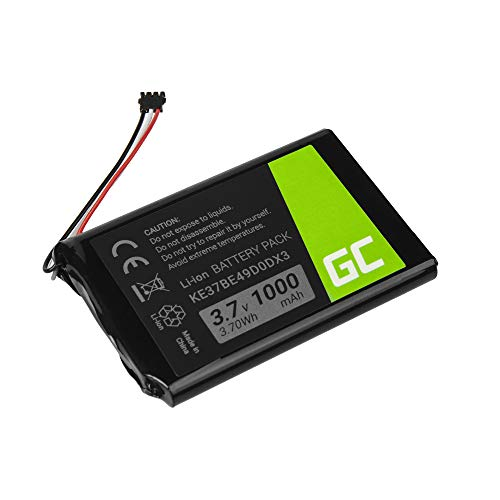 Green Cell ® KE37BE49D0DX3 361-00035-00 361-00035-03 Batería para navegación GPS Garmin Edge 800 810 Nuvi 1200 1205 1250 1260 2300 2360 2370 2405 2447 2455 2495 2545 2555 2595 2597 Li-Ion 1000mAh 3.7V