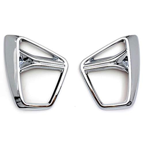 RJJ WYFAN Fit For Chevrolet Blazer 2019-2020 Car Accessories Front Fog Light Frame Decoration Cover ABS Chrome 2PCS (Color : Silver 1pcs)
