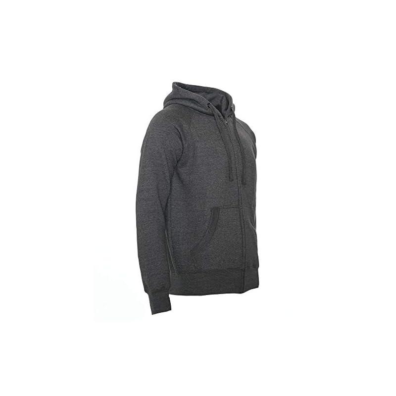 ROCK-IT Apparel® Man Heavy Zipped Slim fit Fleece Hoodie Mens Sweater Pullover Hoody Sizes S-3XL Colors Black Enamel…