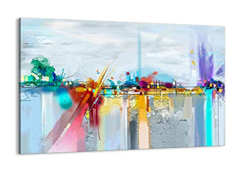 Cuadro sobre lienzo - Impresión de Imagen - abstracción moderna - 120x80cm - Imagen Impresión - Cuadros Decoracion - Impresión en lienzo - Cuadros Modernos - Lienzo Decorativo - AA120x80-4028