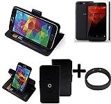 K-S-Trade® Case Schutz Hülle Für -NOA H10le- + Bumper Handyhülle Flipcase Smartphone Cover Handy Schutz Tasche Walletcase Schwarz (1x)