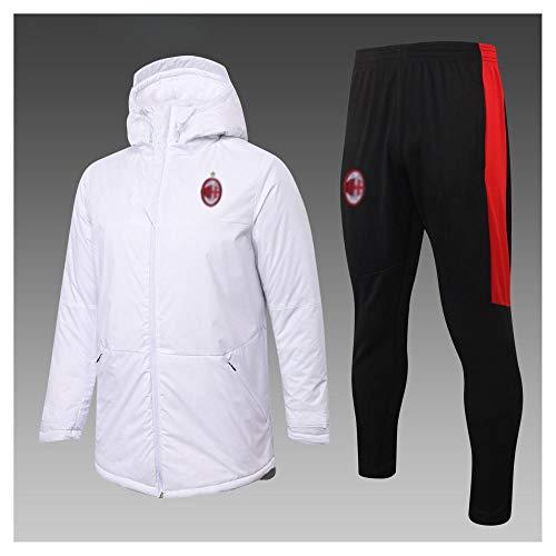 caijj Neue Herren Fußballuniform Geschenk Baumwolle Kleidung Fußball kältesicher Fußballfan kältesicher Anzug Fußball Hoodie männlich-B21-XL