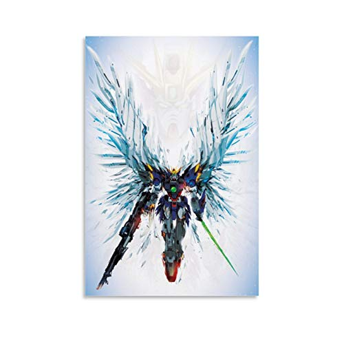 Gundam Wing Zero Angel Decoration Canvas Art Poster and Wall Art Picture Print Modern Family Bedroom Decor Posters 08x12inch(20x30cm)