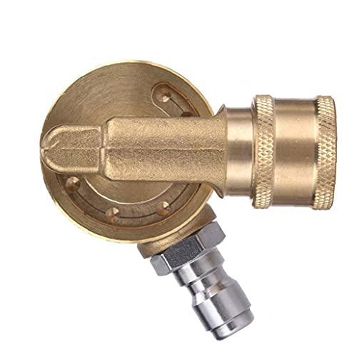FeelMeet Pivotante acoplador Lavadora latón Conector con 1/4 Pulgada rápida de conexión para Limpieza en Zonas de difícil Acceso Amarillo
